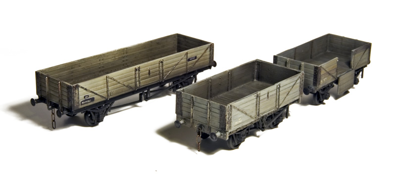 Wooden open wagons