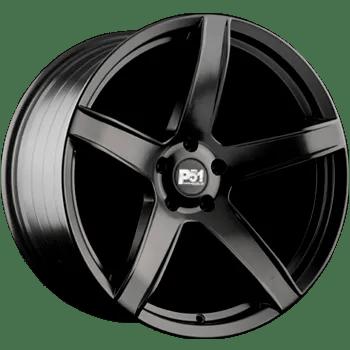P51 HC707 HR5 Hell Raiser Dodge Challenger Charger Matte Black 5 spoke wheels rims