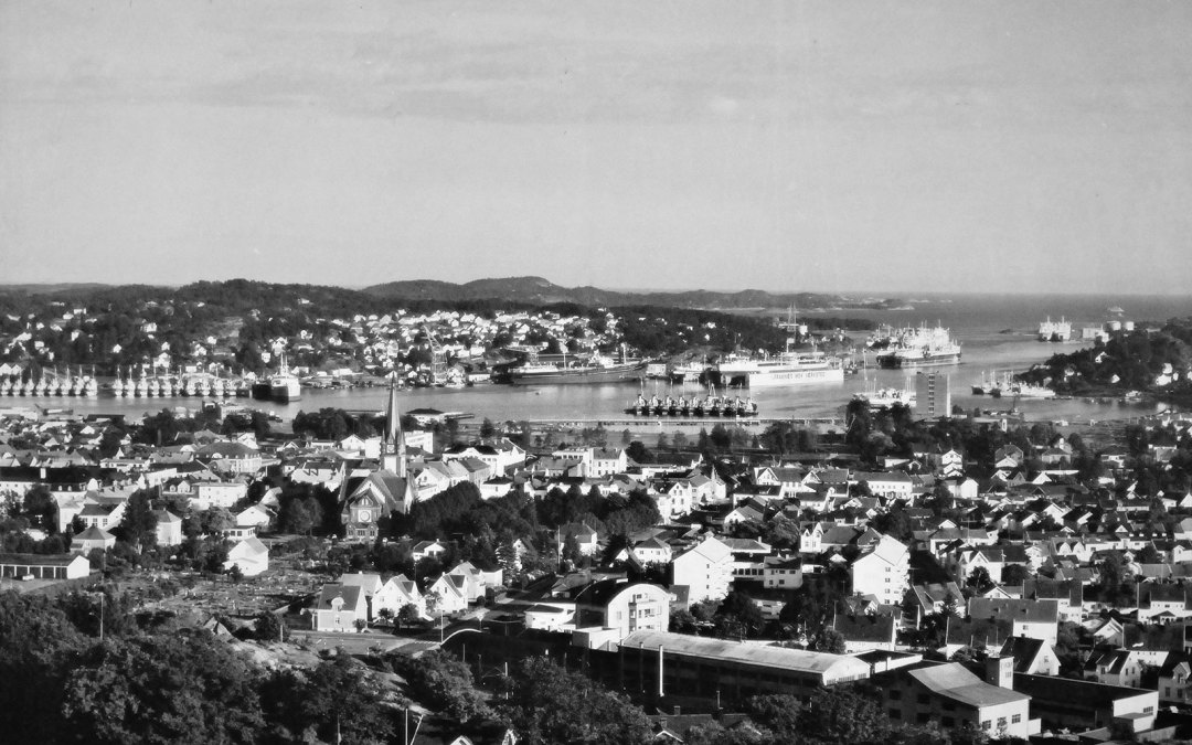 The harbor in Sandefjord 1950s