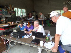 Listening to DX stations at Field Day