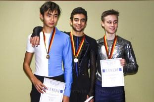 Jugend Herren U18, 1. Faris HERITZ, 2.Daniel HOLTKOTT, 3. Marius GRIMM