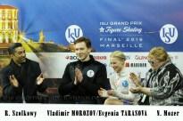 1 Evgenia TARASOVA , Vladimir MOROZOV (RUS)+Coaches