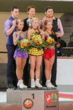 Sieger Paare 1. Tarasova-Morozov(RUS), 2. Savchenko-Massot(GER), 3. Alexandrovskaya-Windsor(AUS)