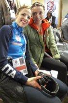 Carolina und Nicole vor der Pressekonferenz