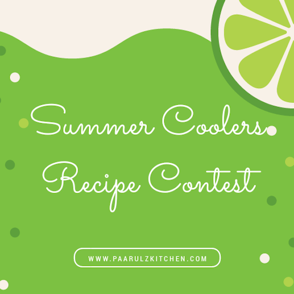 Summer Coolers Recipe Contest at Paarulz Kitchen