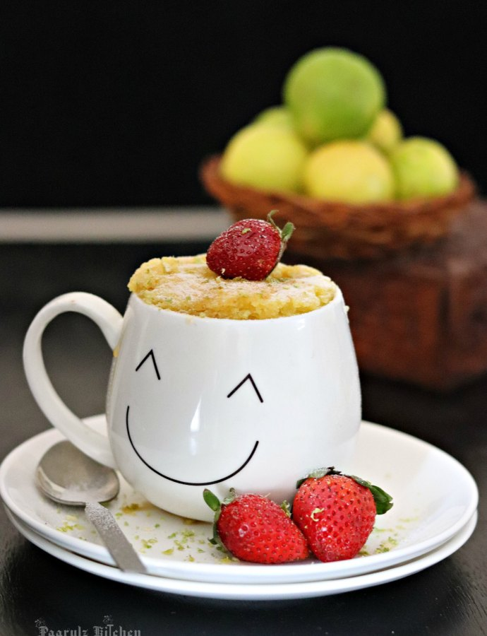 Lemon Mug Cake Recipe (Eggless & Vegan)