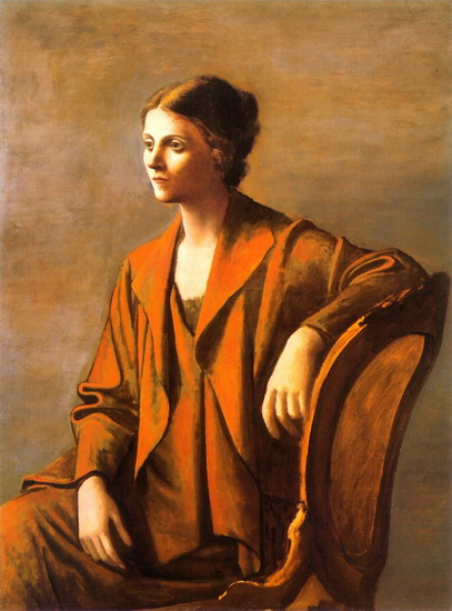 Image result for picasso portrait of olga 1923