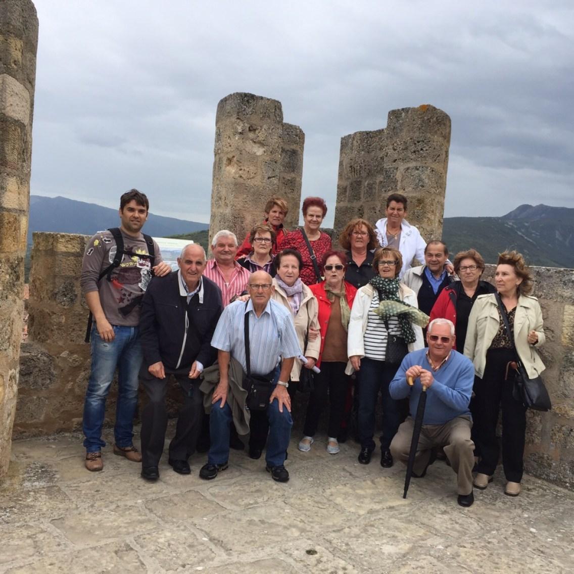 Un momento de la visita al castillo de Frías, Burgos