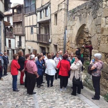 Un momento de la visita a Frías, Burgos