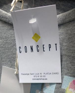 Graphic materials for Concept clothing store