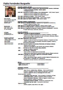 Modelo De Curriculum Para Abogados Cv Pablo F Burgueno