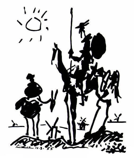 Picasso's painting Don Quixote