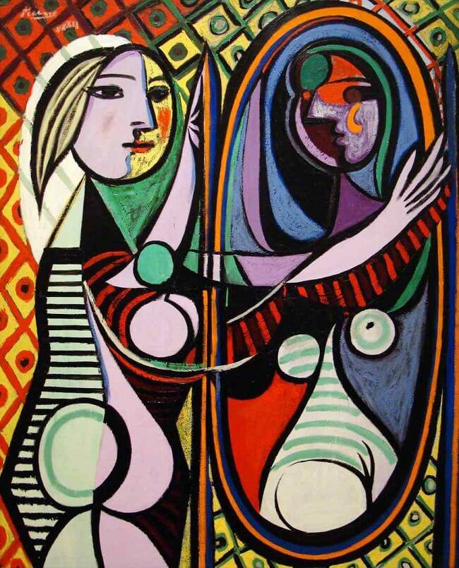 Image result for girl before mirror picasso wikipedia