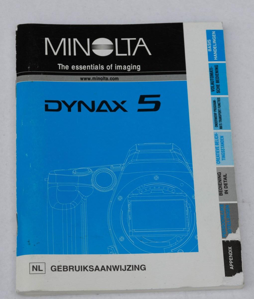 Minolta Dynax 5 - handleiding