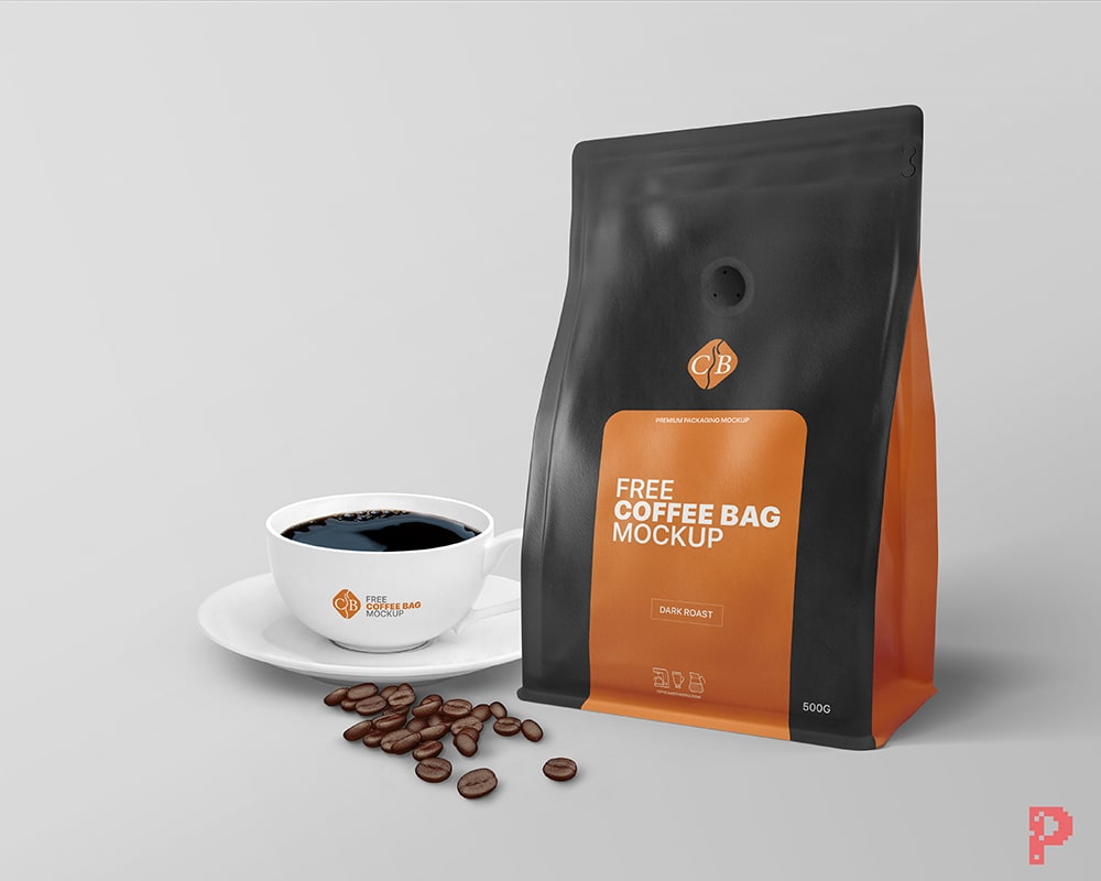 You can use it for presenting your work, websites, blog, print projects. Coffee Bag And Cup Packaging Branding Mockup Free Package Mockups