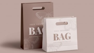 1 psd file with 2 smart layers for design. Shopping Bag Package Mockups