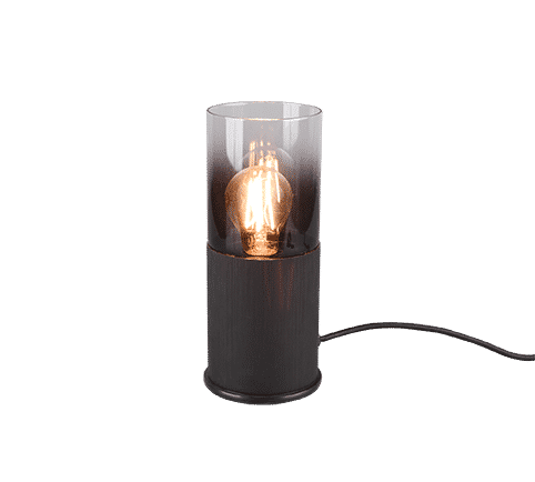 Lampe de table Moderne noir Métal et verre fumé ROBIN
