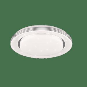 Plafonnier rond effet étoilé SMD LED, 18W · 1x 2000lm, 3000 – 6000K ATRIA