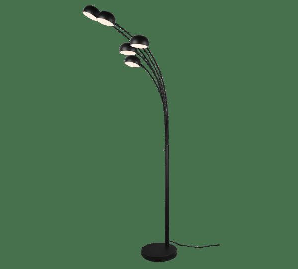 Lampadaire Design metale Noir Mat, sans ampoule(s)