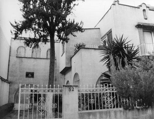 Imagen 3. Fachada exterior de la Casa de Chile en México, en calle Mercaderes N° 52, México D.F. año 1992.