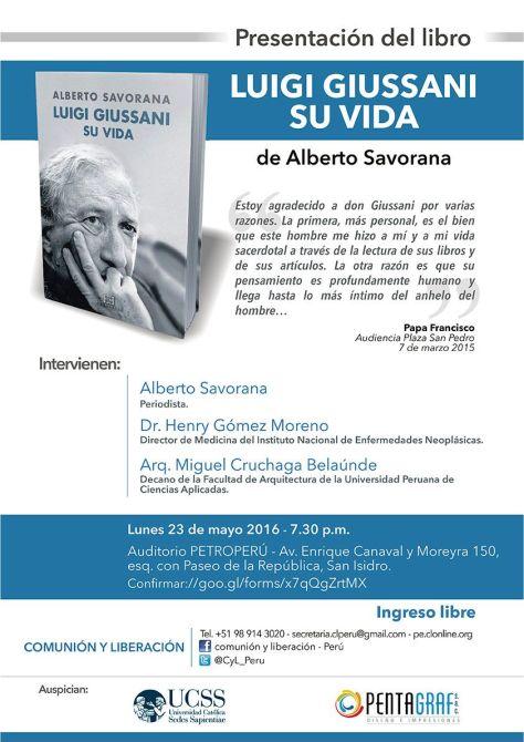 Invitación Presentación Biografía Giussani