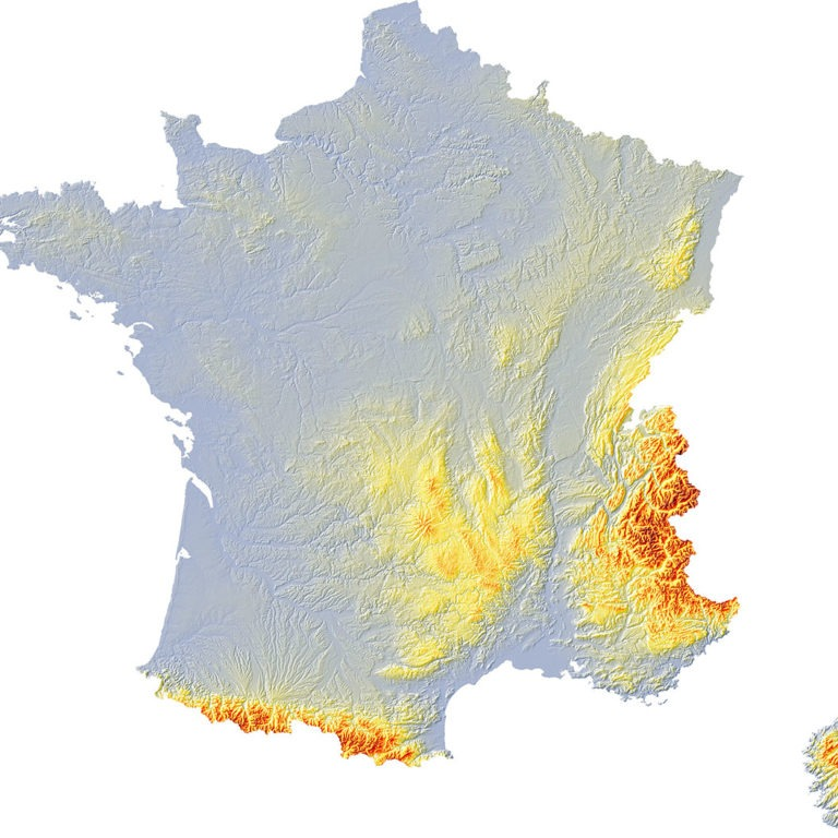 France relief 2 SD - Guillaume Sciaux - Cartographe professionnel