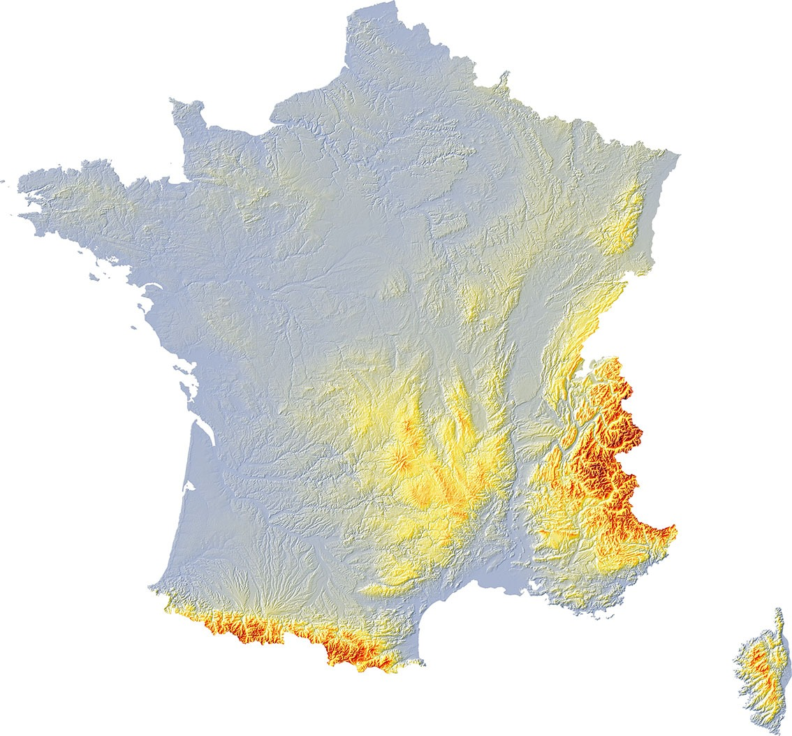 France relief 2 SD - Guillaume Sciaux - Cartographe professionnel