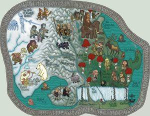 Game of Thrones - Carte moyen age (2) - Au-delà du mur - Guillaume Sciaux - Cartographe professionnel