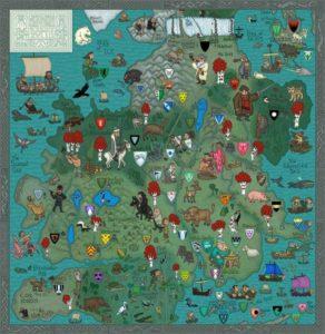 Game of Thrones - Carte moyen age (3) - Nord - Guillaume Sciaux - Cartographe professionnel