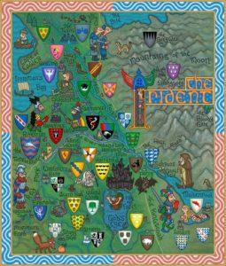 Game of Thrones - Carte moyen age (8) - Le conflant - Guillaume Sciaux - Cartographe professionnel