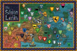 Game of Thrones - Carte moyen age (9) - Terres de l'Orage - Guillaume Sciaux - Cartographe professionnel