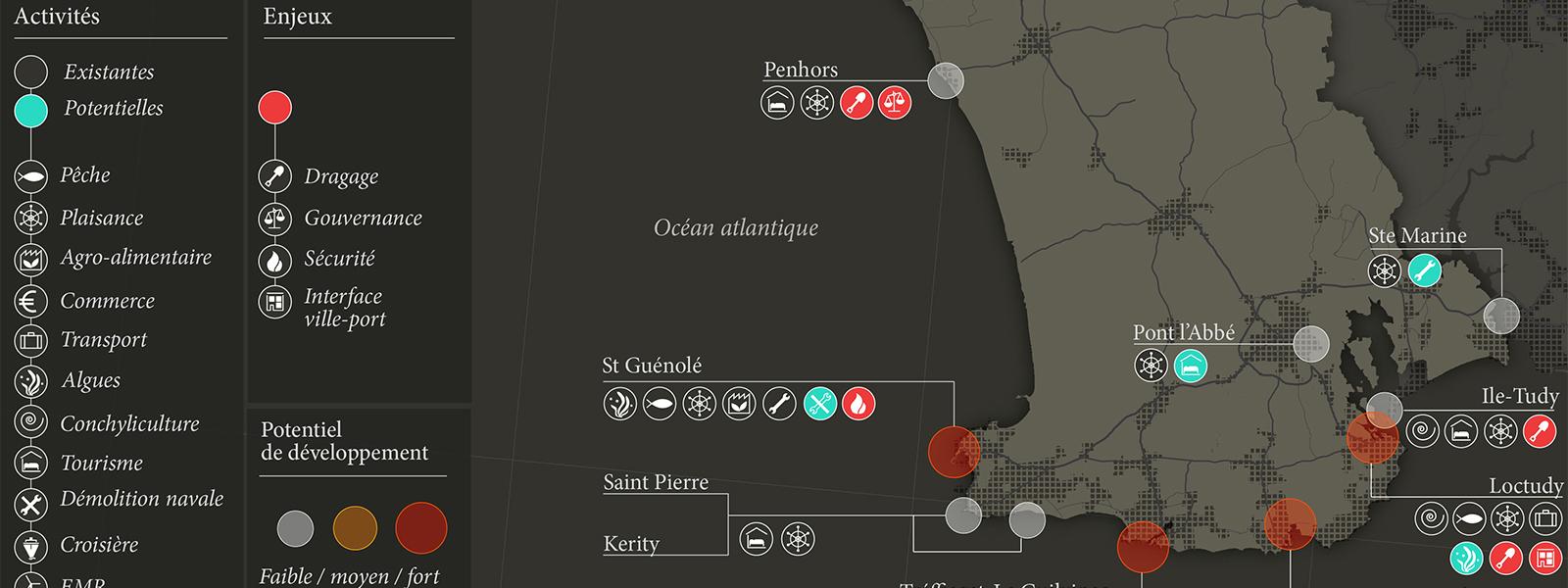 Les ports de Cornouaille - Guillaume Sciaux - Cartographe professionnel