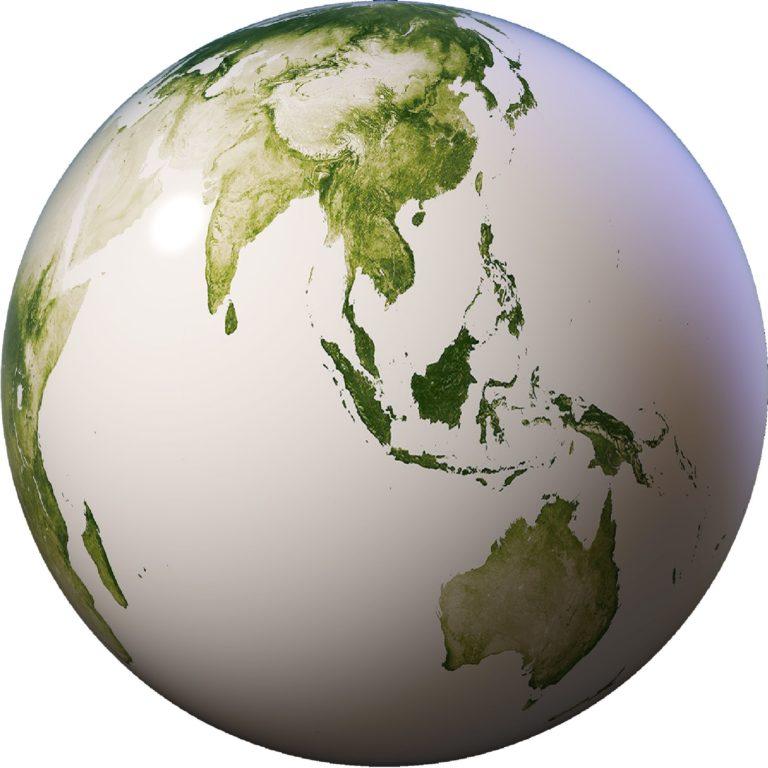 Globe vert - Guillaume Sciaux - Cartographe professionnel