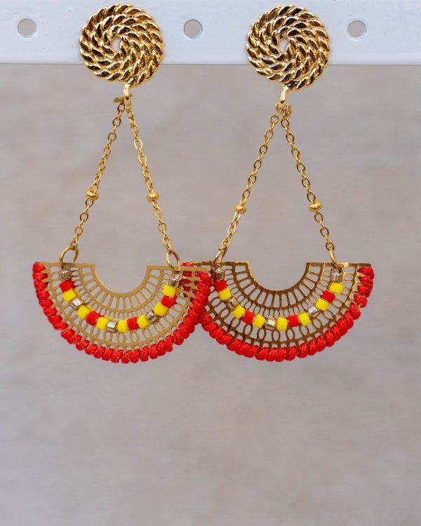 Boucles d'oreilles pendantes perles miyuki