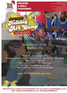 Holiday Art Camp @ National Gallery of Zimbabwe