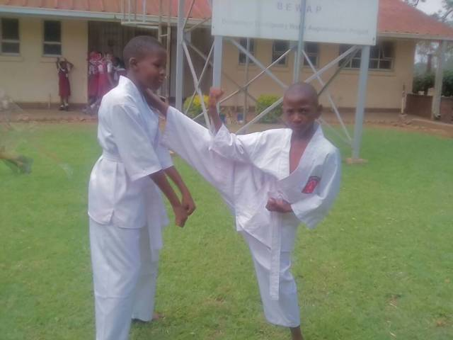 Young Karatekas Pilani Masuku (left) and Taakundanashe Matongo (right)