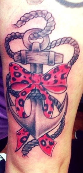 And Anchor Tattoo Bow Rope