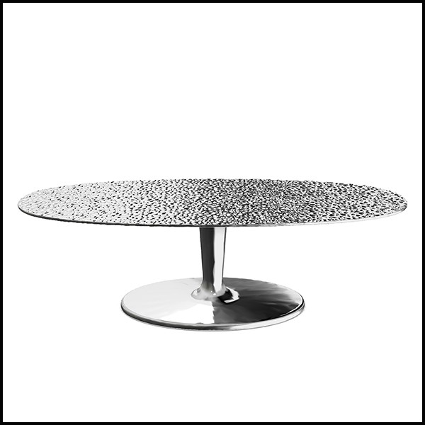 coffee table in polished casted