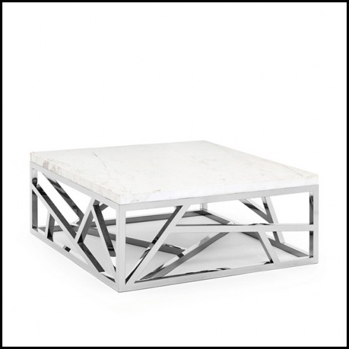 coffee table with structure in chrome