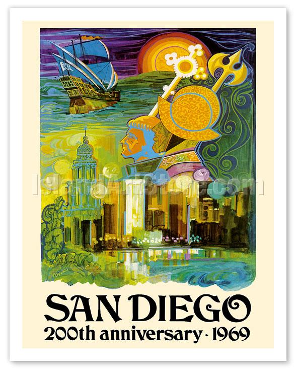 fine art prints posters san diego california 200th anniversary 1969 giclee art prints posters islandartstore com