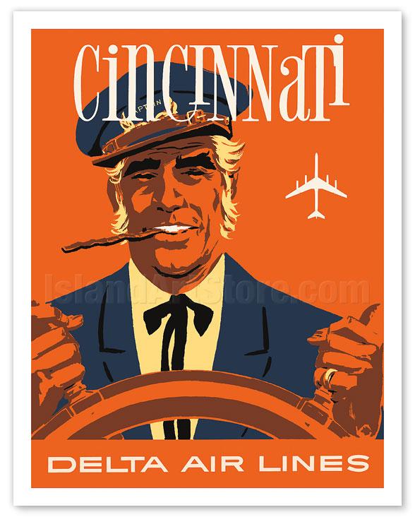 fine art prints posters cincinnati ohio delta air lines riverboat captain giclee art prints posters islandartstore com