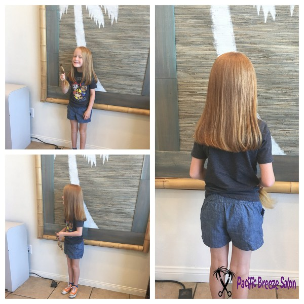 We love when clients are so generous! This little girl donated her hair to help a child in need. Check out locksoflove.org, pantene.com, or wigsforkids.com and talk to one of our stylists to help you donate your hair!