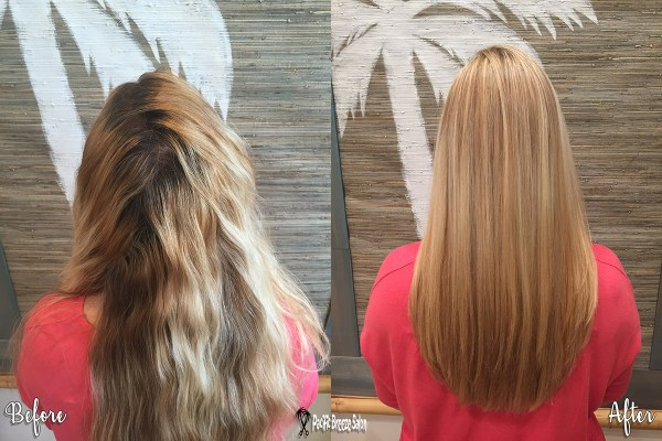 Stylist Mary Dennis takes damaged, box-dyed hair to beautiful, healthy blonde!