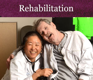 Rehabilitation Link. Resident Smiles With On Site Physician
