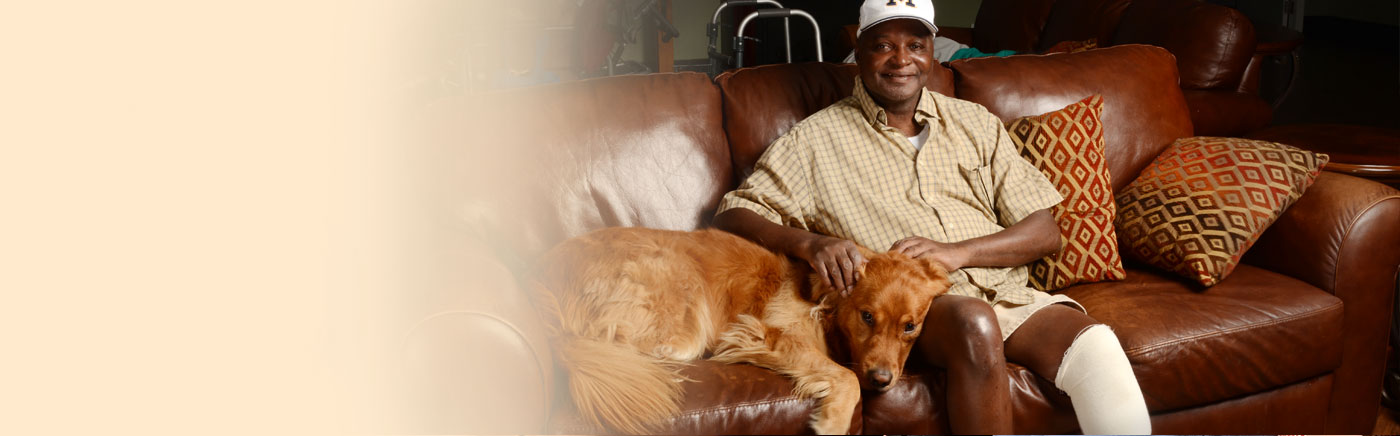 Resident With Golden Retriever