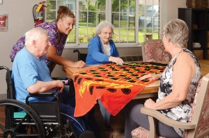 Pacific Care Center, Pacific MO - Senior Activities Playing Checkers