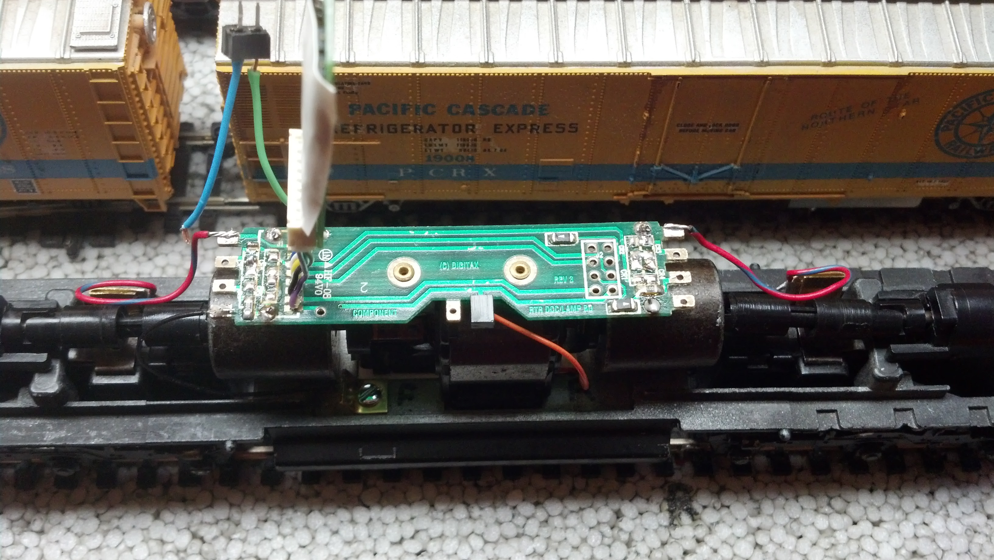 Converting The Athearn Digitrax Pc Board To Led Lighting Model Two Circuits Railroader Magazine Railroading Dcc Conversion