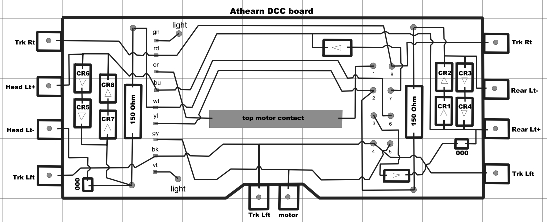 Converting the Athearn/Digitrax PC board to LED lighting