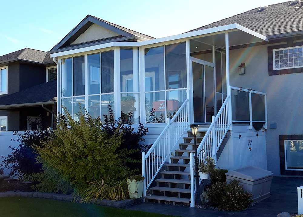 aluminum railings sunroom and small patio cover pacific home products