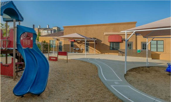 Pacific Preschool's playground at San Marcos, CA